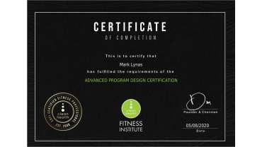 Active IQ Level 3 NVQ Diploma in Personal Training